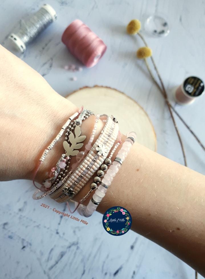TUTORIEL Bracelet Multirangs Little Pink'NSteel